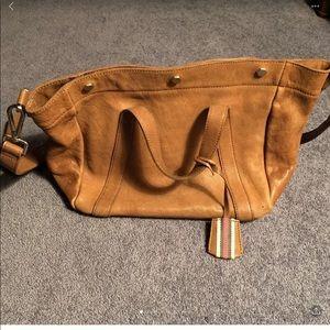 Madewell Stockholm leather satchel tan